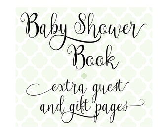 Set of 20 Extra Guest, Gift & Photo Pages for Charmbooks Baby Shower Books