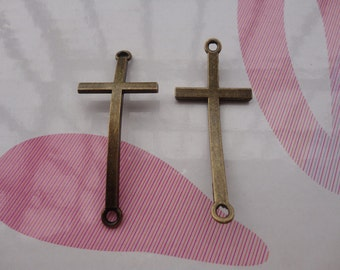 10pcs antique bronze cross findings 50x22mm