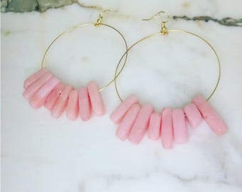Pretty in Pink Hoops