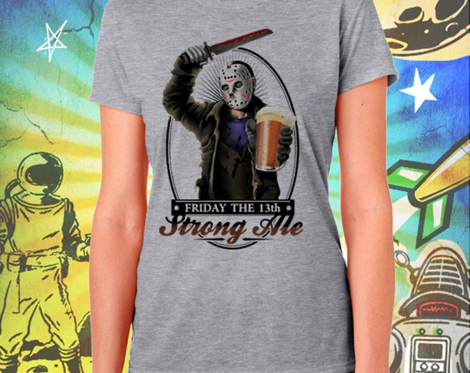 Friday the 13th / Jason's Strong Ale / Women's Gray Performance T-Shirt