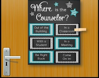 Gift for School Counselor Appreciation Week, Counseling Office Door Sign, Back to School, Christmas Gift Idea, Counselor Office Decor