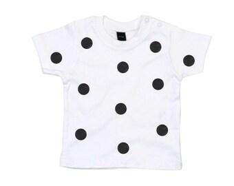 Baby T-shirt dots print