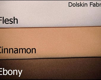 Dolskin - Flesh Now Available!    Also Cinnamon and Ebony - Premium Cloth Doll Making Fabric, Doll Skin/Body