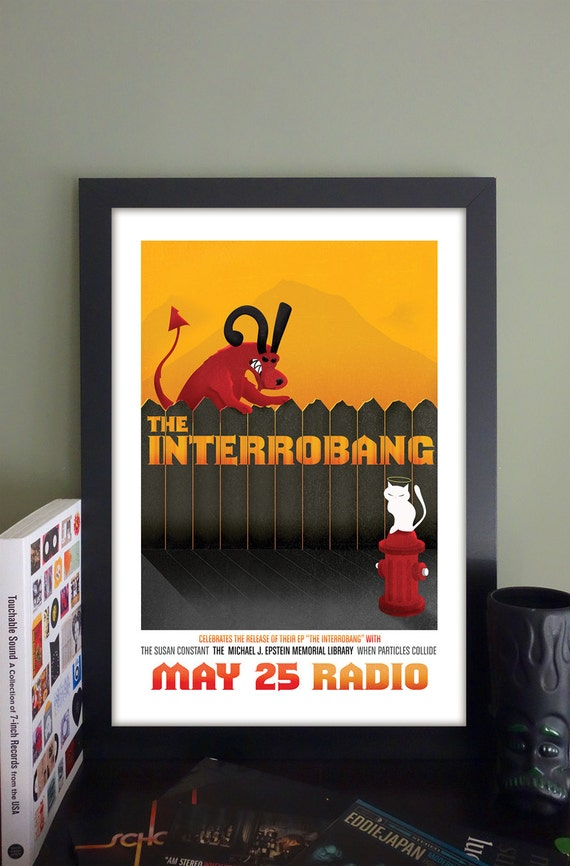 "The Interrobang Gig Poster // Radio Somerville, MA 13""x19"""