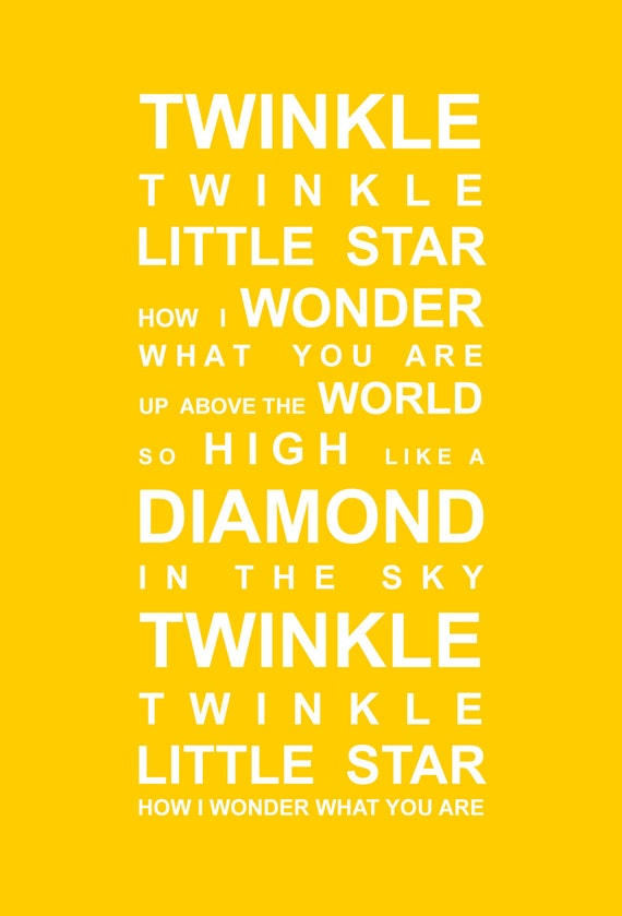 Delighted Twinkle Twinkle Little Star Wall Art Pictures Inspiration ...