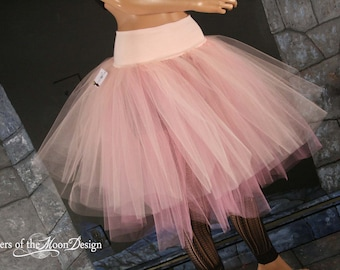 Tutu skirt  Peachy Victorian Romance two tier extra poofy knee length Adult ballet dance costume - You Choose Size -  Sisters of the Moon