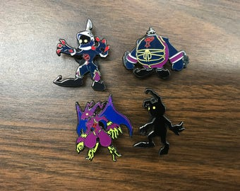 Heartless Kingdom Hearts Pin Set