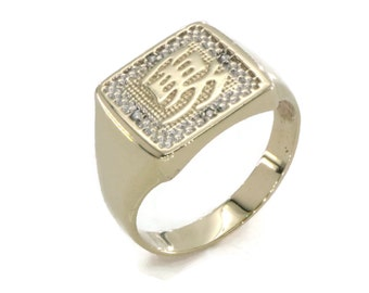 Gold Chinese Inscription Ring, Mens Gold Rings, Mens Diamond Ring, Mens Signet Ring, Mens Gold Signet Ring, Gold Ring Men, Signet Ring Men