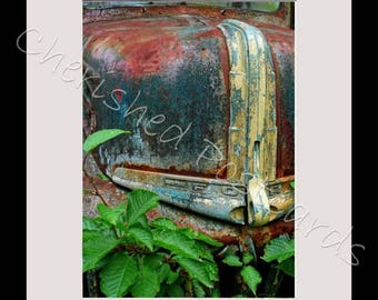 Rusty American Ford Truck Front Framed Photograph For Any Room ~ A4 Black Frame ~ Printed On Professional Gloss Paper ~ Smaller Photo.