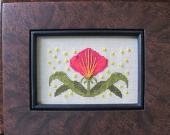 Funky Flower Victoria Counted Cross Stitch Chart