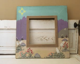 Handmade 12x12 Picture Frame, New Mexico, Las Cruces, Organ Mountains