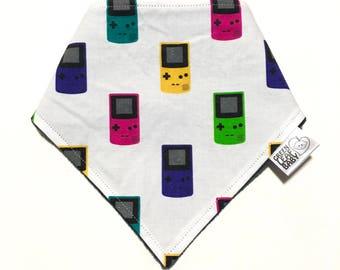 Gameboy Color baby bib, Geeky baby bib, Gamer baby bandana bib