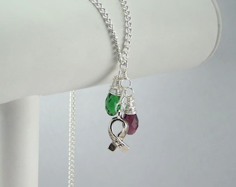 Multi Color Multi Bead Awareness Necklace Your Choice of Colors