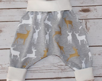 My harem reindeer walk, reindeers on the way, harem pants, baby pants, baby harem pants