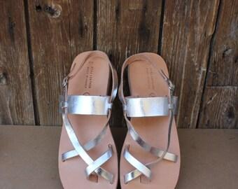 SALE! Greek sandals, Women's sandals, leather gladiator , silver sandals, Gladiator Sandals, ,Greek  sandals,