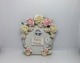 Handmade fairy door shabby chic cottage style magical miniature fairy