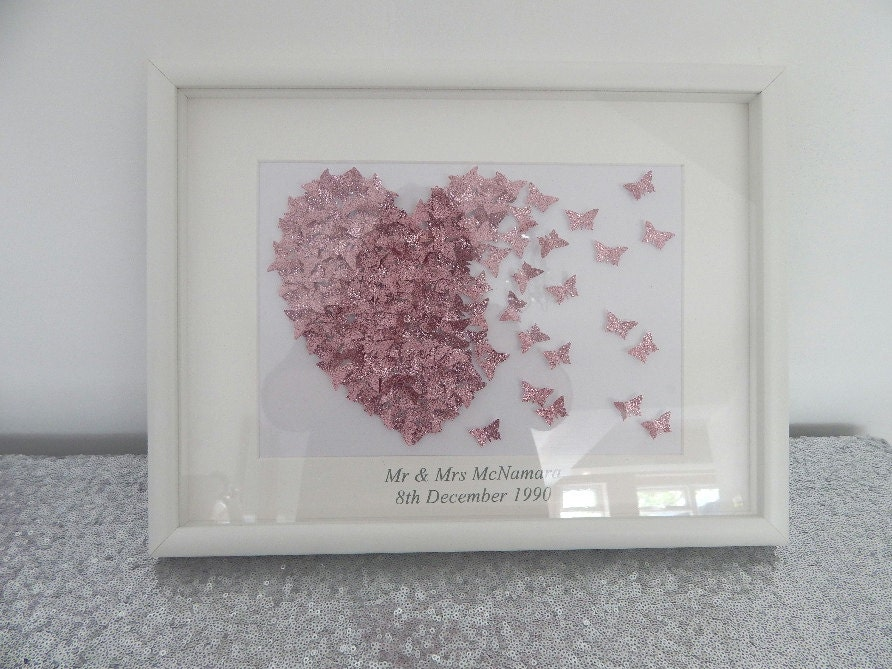 Unique personalised engagement,wedding or anniversary gift in a 3D ...