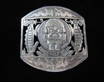 Vintage Peruvian Sterling Silver Farro Marked Creature Pin