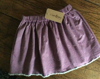 Cute purple girls skirt 4/5 years with pockets