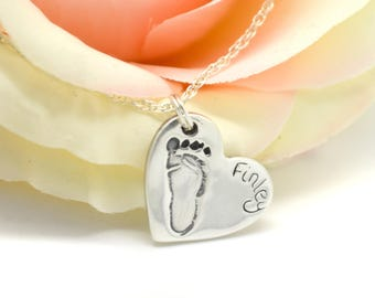 Footprint Necklace Silver