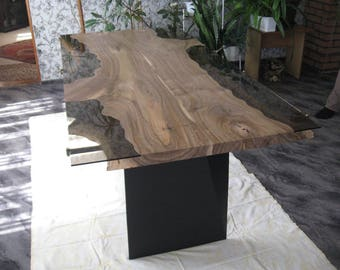 live edge  walnut dining table ( free shipping )