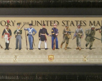 History of the United States Marine Framed