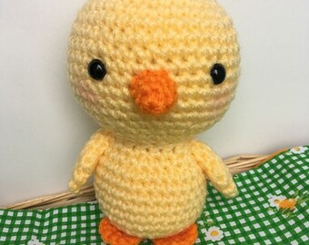 Piper the Chick- Crocheted Easter Chick/Chicken- Amigurumi Stuffed Animal Toy