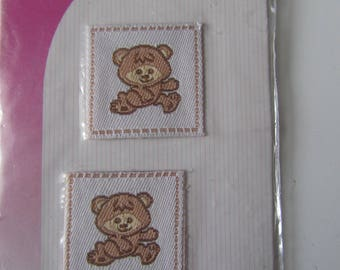 Set of 2 self adhesive baby of a bear