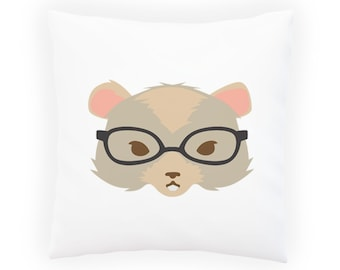 Hipster gerbil Pillow Cushion Cover w136p