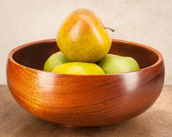 Fruit Bowl,  Salad bowl, Hand made, Kitchen decor, Home decor, Wood Bowl, Wood bowls, Wooden bowl, Wooden bowls, Mahogany,