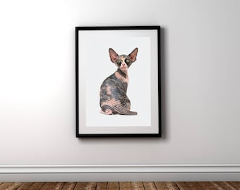 Wallart | Сat sphinx animal | Print Wall | Art Decor| Daily Motivation| Poster | Printable| Quote