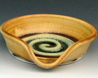 SMALL SPOON REST #12 - Ceramic Spoon Holder - Ceramic Spoon Rest - Pottery Spoon Rest - Spoon Dish - Spoon Plate - Studio Pottery