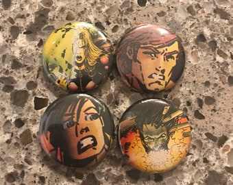 """Generation X 1"""" Recycled Pinback Buttons"""