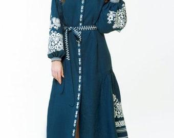Dress Ukrainian Vyshyvanka Dress Embroidered Women Dress Ukrainian dress
