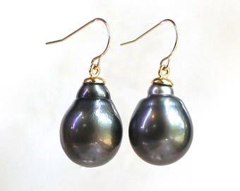 14kg Large Tahitian Pearl Focal Earrings...