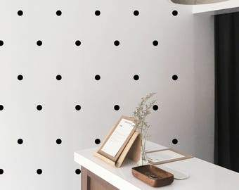 Small Polka Dot Wall Stickers ~ Tiny Spots decals ~ Office Kids Nursery Living Room Decoration ~Peal and stick ~ set of 35/70/105/140/175