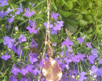 Double Copper Leaf Necklace