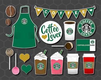 Coffee Planner Stickers, Starbucks Stickers, Coffee Stickers, Coffee Lover Stickers, Coffee Cup Stickers, Frappuccino Sticker, Food - FDD001