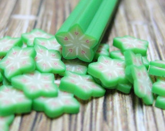 Polymer clay canes fruit 1pc starfruit uncut for miniature foods decoden and nail art supplies carambola