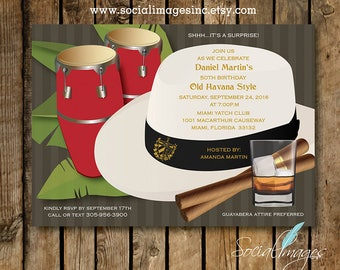 Havana NightsBONGOS Party Invitation EVITE DIGITAL File