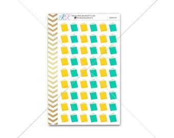 Plain book Stickers for planner, calendar! Functional planner stickers school sticker functional sticker reading sticker #SQ00448