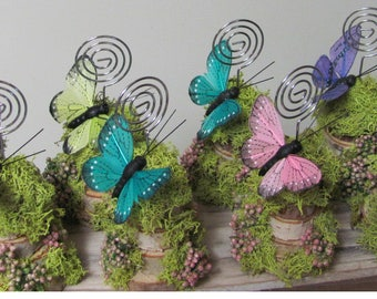 8 Place Card Holders, Butterfly Place Card Holders, Butterfly Photo Holders, Butterfly Favors, Butterfly Party Favors