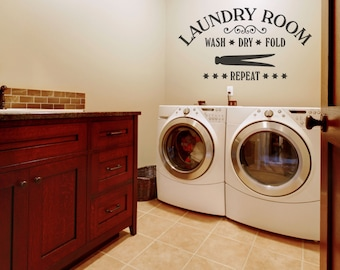 Laundry Room Decor, Laundry Wall Decals. Laundry Wall Decal, Laundry Room Wall Decor, Laundry Room Sign, Laundry Room, Wall Decal