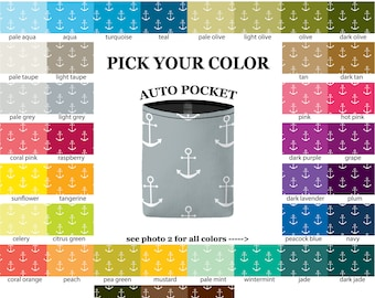 Auto Pocket - Anchors - PICK YOUR COLOR - Car Accessory Automobile Caddy