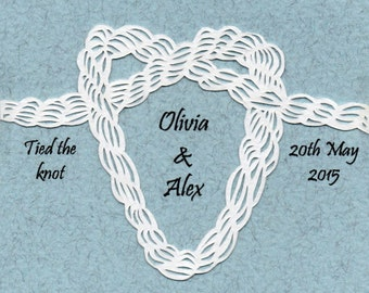 Tie the Knot - Personalised handcut