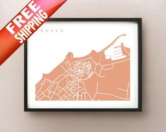 Tropea Map Print - Italy Art Poster - Vibo Valentia, Calabria, Southern Italy