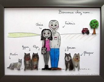 customizable family frame