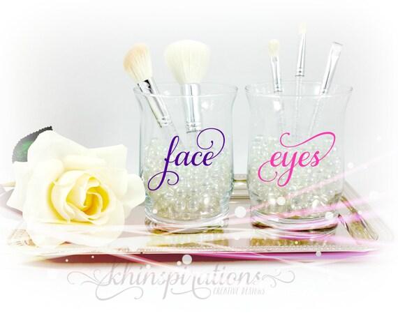 Face And Eye Makeup Brush Holders Makeup Organize Makeup