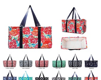 All Purpose Pocket Utility Tote/ Utility tote / Large tote/ Beach Bag