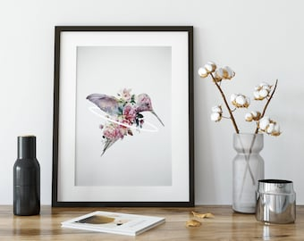 Hummingbird Art, Hummingbird Print, Hummingbird Decor, Hummingbird Poster, Wall Art, Hummingbird Wall Art, Bird Art, Bird Print